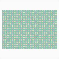 Pink Peach Green Eggs On Seafoam Large Glasses Cloth (2 Side)
