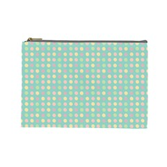 Pink Peach Green Eggs On Seafoam Cosmetic Bag (large)
