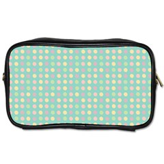 Pink Peach Green Eggs On Seafoam Toiletries Bags