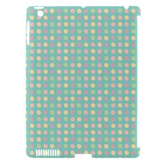 Pink Peach Green Eggs On Seafoam Apple Ipad 3/4 Hardshell Case (compatible With Smart Cover)