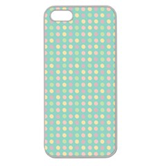 Pink Peach Green Eggs On Seafoam Apple Seamless Iphone 5 Case (clear)