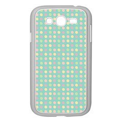 Pink Peach Green Eggs On Seafoam Samsung Galaxy Grand Duos I9082 Case (white)