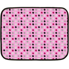 Grey Magenta Eggs On Pink Fleece Blanket (mini)