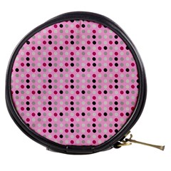 Grey Magenta Eggs On Pink Mini Makeup Bags