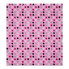 Grey Magenta Eggs On Pink Shower Curtain 66  X 72  (large)