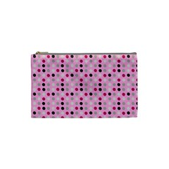 Grey Magenta Eggs On Pink Cosmetic Bag (small)