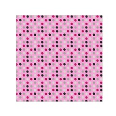 Grey Magenta Eggs On Pink Small Satin Scarf (square)