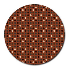 Grey Eggs On Russet Brown Round Mousepads