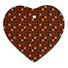 Grey Eggs On Russet Brown Ornament (heart)