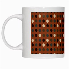 Grey Eggs On Russet Brown White Mugs