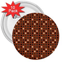 Grey Eggs On Russet Brown 3  Buttons (10 Pack)