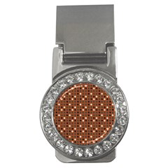 Grey Eggs On Russet Brown Money Clips (cz)