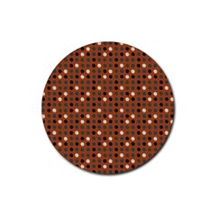 Grey Eggs On Russet Brown Rubber Coaster (round)