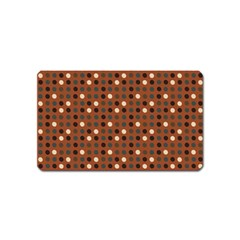 Grey Eggs On Russet Brown Magnet (name Card)