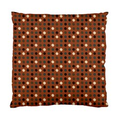 Grey Eggs On Russet Brown Standard Cushion Case (one Side)