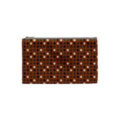 Grey Eggs On Russet Brown Cosmetic Bag (small)