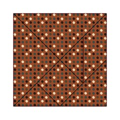 Grey Eggs On Russet Brown Acrylic Tangram Puzzle (6  X 6 )
