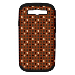 Grey Eggs On Russet Brown Samsung Galaxy S Iii Hardshell Case (pc+silicone)