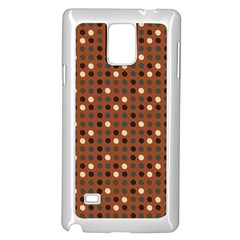 Grey Eggs On Russet Brown Samsung Galaxy Note 4 Case (white)