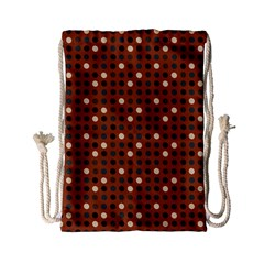 Grey Eggs On Russet Brown Drawstring Bag (small)