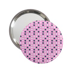 Teal White Eggs On Pink 2 25  Handbag Mirrors