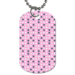 Teal White Eggs On Pink Dog Tag (two Sides)