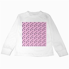 Teal White Eggs On Pink Kids Long Sleeve T Shirts