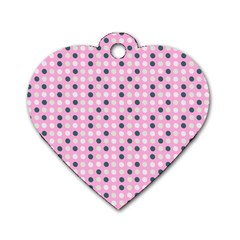 Teal White Eggs On Pink Dog Tag Heart (two Sides)