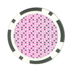 Teal White Eggs On Pink Poker Chip Card Guard