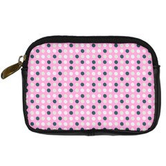 Teal White Eggs On Pink Digital Camera Cases