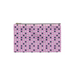 Teal White Eggs On Pink Cosmetic Bag (small)