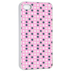 Teal White Eggs On Pink Apple Iphone 4/4s Seamless Case (white)