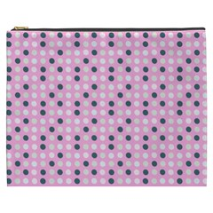 Teal White Eggs On Pink Cosmetic Bag (xxxl)
