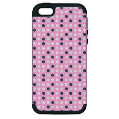 Teal White Eggs On Pink Apple Iphone 5 Hardshell Case (pc+silicone)