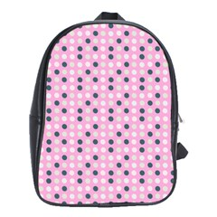 Teal White Eggs On Pink School Bag (xl)