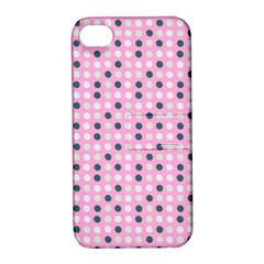 Teal White Eggs On Pink Apple Iphone 4/4s Hardshell Case With Stand