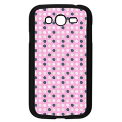 Teal White Eggs On Pink Samsung Galaxy Grand Duos I9082 Case (black)
