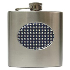 Beige Blue Cream Eggs On Grey Blue Hip Flask (6 Oz)