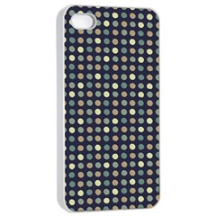 Beige Blue Cream Eggs On Grey Blue Apple Iphone 4/4s Seamless Case (white)
