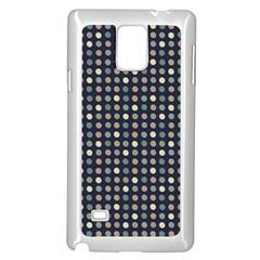 Beige Blue Cream Eggs On Grey Blue Samsung Galaxy Note 4 Case (white)