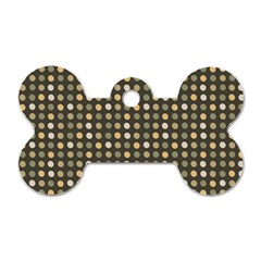 Grey Beige Eggs On Dark Grey Dog Tag Bone (one Side)