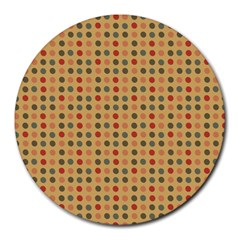 Grey Brown Eggs On Beige Round Mousepads