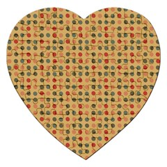 Grey Brown Eggs On Beige Jigsaw Puzzle (heart)