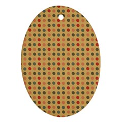 Grey Brown Eggs On Beige Oval Ornament (two Sides)