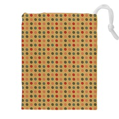 Grey Brown Eggs On Beige Drawstring Pouches (xxl)