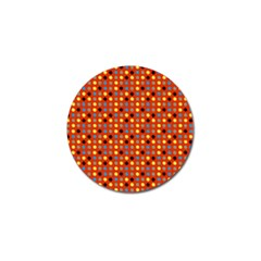 Yellow Black Grey Eggs On Red Golf Ball Marker (10 Pack)