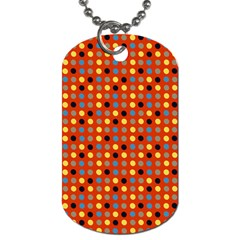 Yellow Black Grey Eggs On Red Dog Tag (two Sides)
