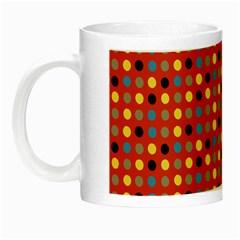 Yellow Black Grey Eggs On Red Night Luminous Mugs