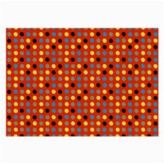 Yellow Black Grey Eggs On Red Large Glasses Cloth