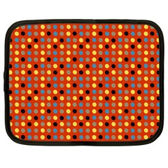 Yellow Black Grey Eggs On Red Netbook Case (large)